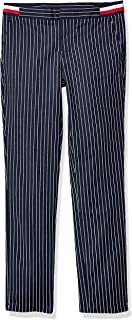 Tommy Hilfiger Adaptive Womens 7699962 Pinstripe Pant with Velcro® Closure and Adjustable Waist Casual Pants - Blue