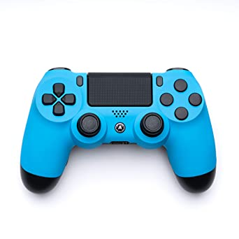 Aimcontrollers Custom Ps4 Controller Dualshock 4 Sony Playstation 4 Konsole Personalisiert Gamepad Blue Amazon De Pc Video Games
