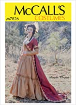 McCall's Patterns M7826A5 MCC 7826 M7826 A5 Misses Costume by Angela Clayton, Size 6-8-10-12-14, Extra Large
