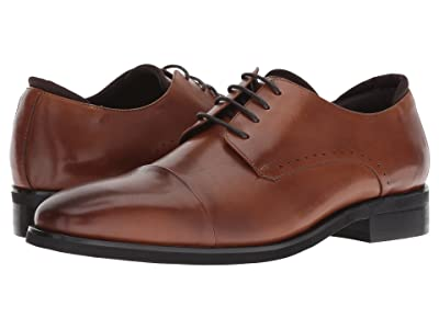 Kenneth Cole Reaction Travis Lace-Up (Cognac Leather) Men