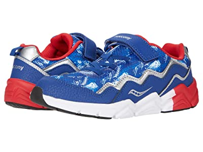 Saucony Kids S-Flash A/C 2.0 (Little Kid/Big Kid) (Blue/Red/White) Boys Shoes
