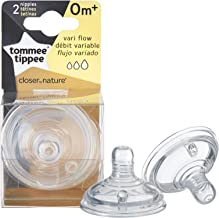Tommee Tippee 2-Pack Closer to Nature Variable Flow Nipples - 0m