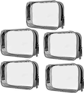 Sacchetto Cosmetico Trasparente PVC Impermeabile Borse da toilette di Cerniera Trucco Portatrucchi Pochette per Viaggio At...