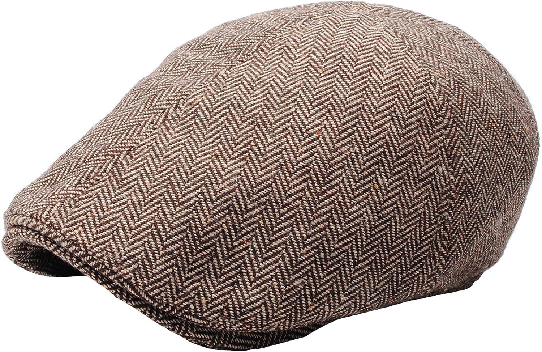 RaOn N04 Herringbone Soft Pattern Driving Wool Ivy Cap Cabbie Ascot Newsboy Beret Hat
