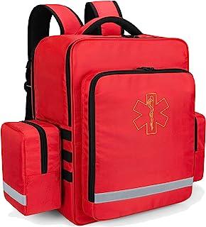 کوله پشتی فوریت های پزشکی Trunab خالی ، اولین پاسخ دهنده کیسه آسیب دیده با جیب جانبی جدا شونده و پایین ضد لغزش برای EMT ، پیراپزشک ، پرستار ، مراقبت در منزل ، قرمز ، فقط کیف