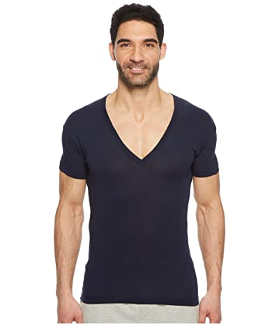 2(X)IST Pima Slim Fit Deep V-Neck T-Shirt (Navy Blazer) Men