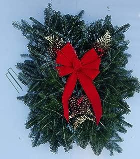 Premium Fresh Natural Christmas Grave Blanket