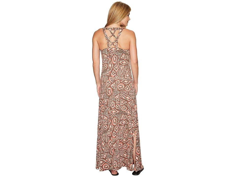 Toad&Co Montauket Long Dress (Falcon Brown Brush Print) Women