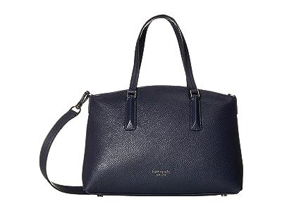 Kate Spade New York Andi Small Satchel (Blazer Blue) Handbags