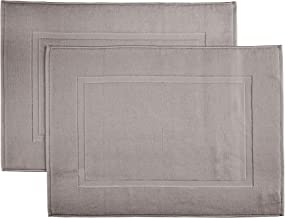 Martex Purity, Bath Sheet Set, Eiffel Tower, 97% Cotton 3% Polyester with Silverbac, Taupe, Tub Mat 2 Pack
