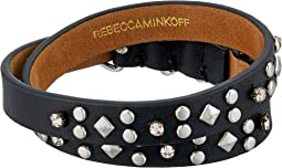 Rebecca Minkoff Studded Double Wrap Leather Bracelet