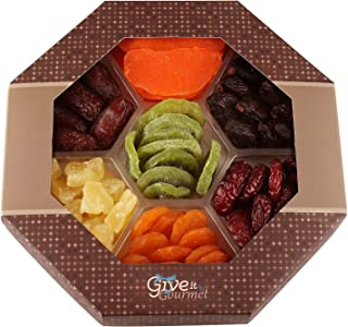 GIVE IT GOURMET, Dried Fruit Gift Baskets, Holiday fruit box, Gourmet Food Gifts, Prime Delivery Great for Birthday Christmas Mothers & Fathers Day, Fruit Gift Box Assortment for Men Women Families