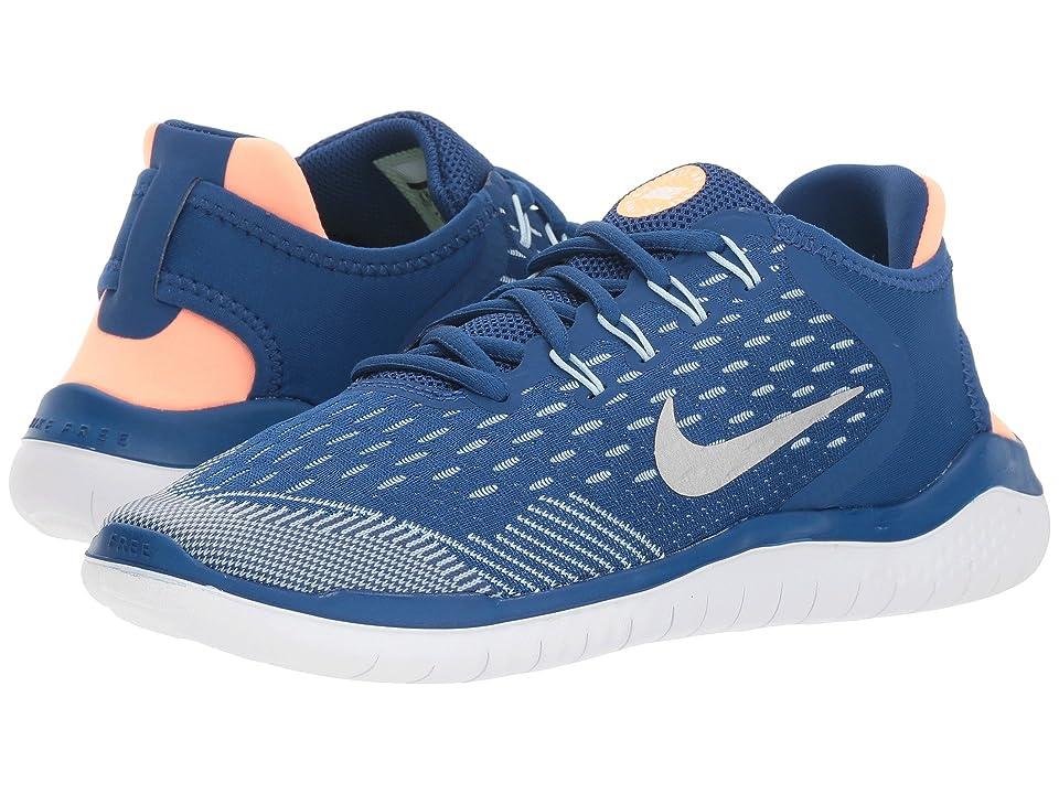 Nike Kids Free RN 2018 (Big Kid) (Gym Blue/Metallic Silver/Cobalt Tint) Girls Shoes