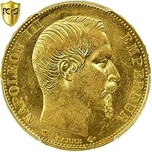 1855 A Napoléon III 20 Francs PCGS MS62
