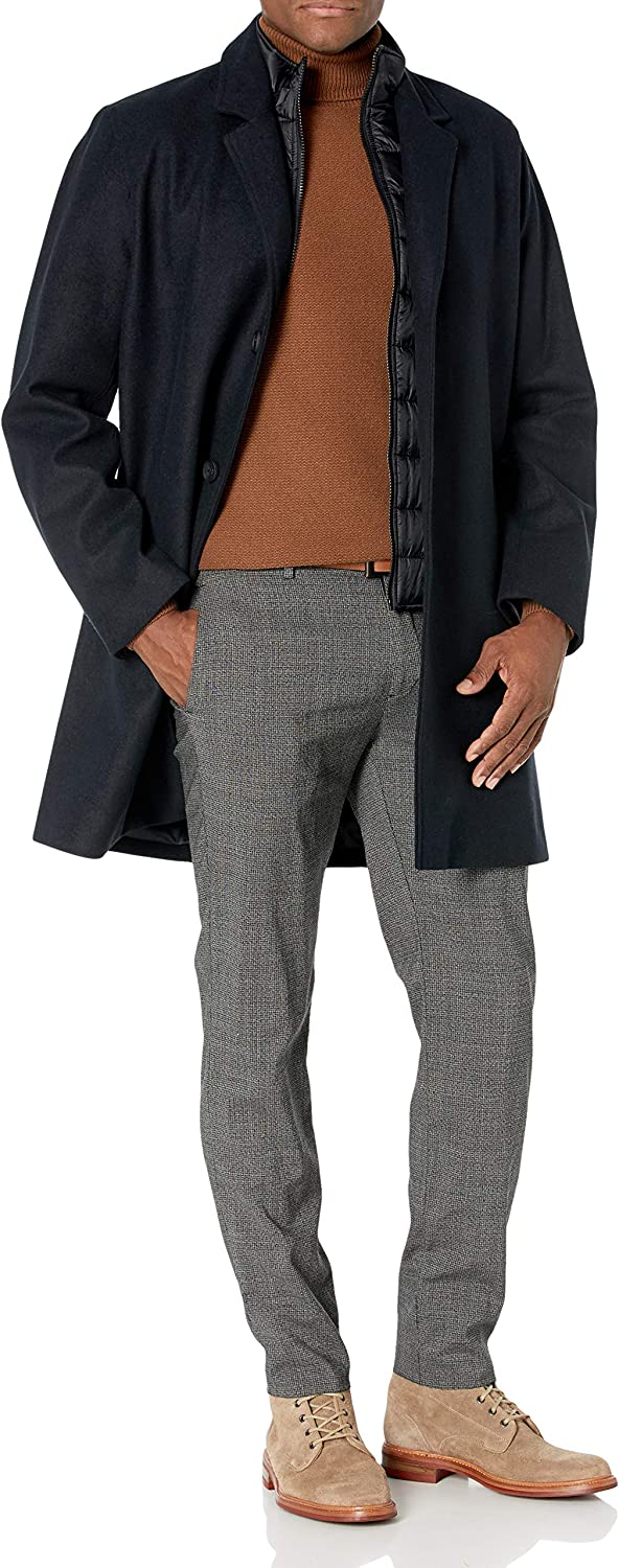 Cole Luxury Haan Men's Laminated Max 80% OFF Topper Bib Wool with