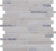 MS International AMZ-MD-00094 Greecian White Interlocking Tile 12in. x 12in, 10 Piece