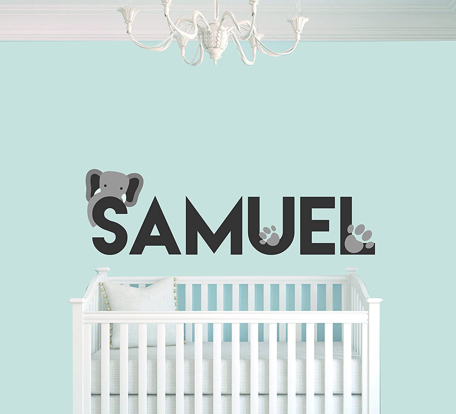 Personalized Sales of SALE items from new works Name Footprints and Elephant Animal Special price B Series Baby -