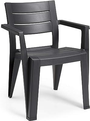 Keter Bali Set de 4 sillas de jardín, Grafito: Amazon.es: Jardín
