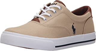 Polo Ralph Lauren Kids Vaughn Ii Sneaker (Toddler/Little Kid/Big Kid), Khaki/Navy, 6 M US Toddler