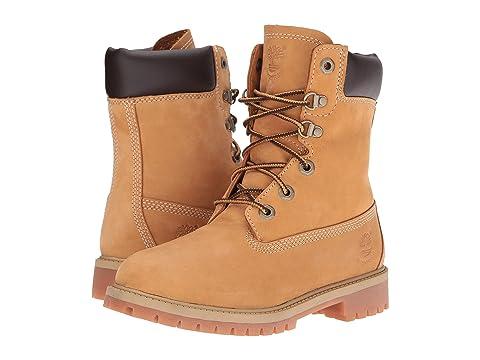 Timberland Kids 8 Waterproof Premium Boot Wheat Nubuck Boys