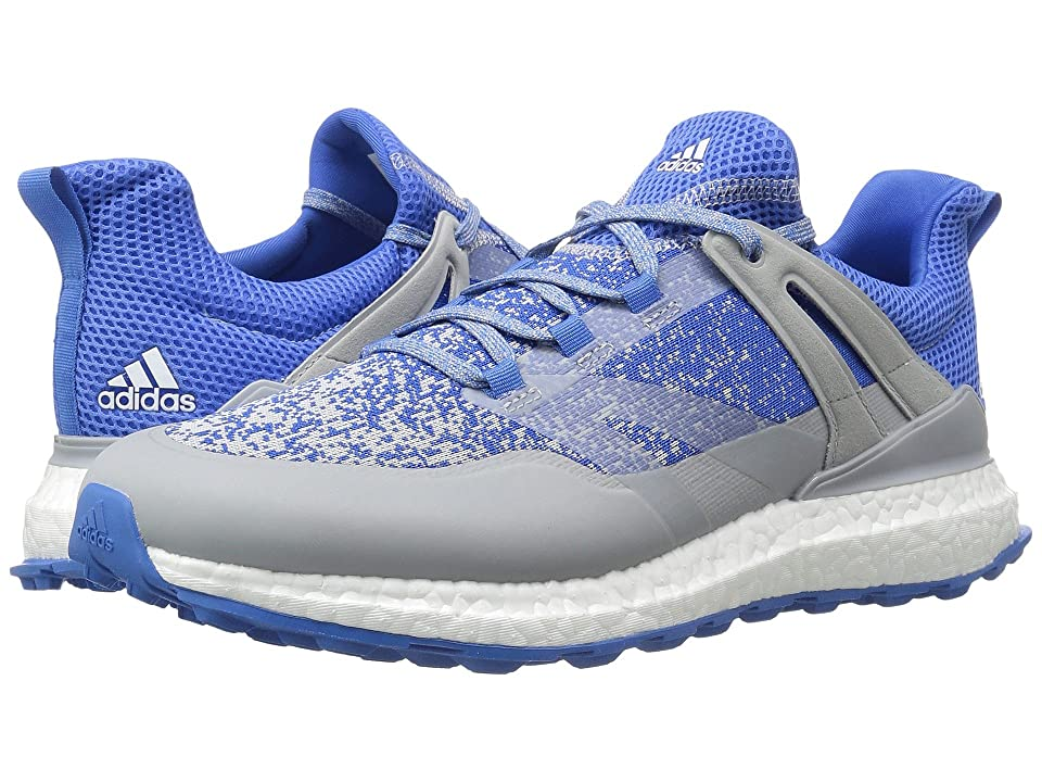 adidas Golf Crossknit Boost (Clear Onix/Blast Blue/Ftwr White) Men