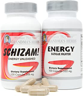 Grandma's Herbs Schizam! + Energy Bundle - Natural Supplement - Stamina Support, Aids Metabolism/Curbs Hung...
