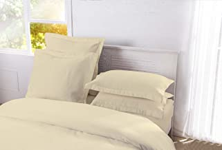 DreamSpace Quilted Pillow Shams Diamond Pattern Matelasse Tailored (2 Pack), European, Ivory
