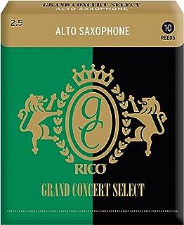 Cañas para saxo alto Rico, serie Grand Concert Select, resistencia de 2.5, paquete de 10