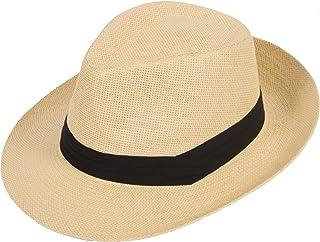 4792824daa7 DRY77 Summer Cool Outback Panama Wide Large Brim Fedora Straw Hat Men Women