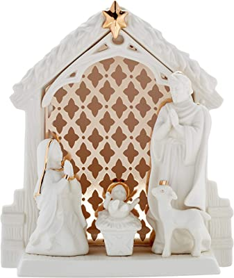 by zytoon Holy Land Imports 23566 Hand Carved in Bethlehem Deluxe Olive Wood Nativity Set the Holy Land