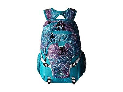 High Sierra Loop Backpack (Sequin Facets/Bluebird/White) Backpack Bags