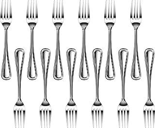 New Star Foodservice 58048 Slimline Pattern, Stainless Steel, Dinner Fork, 7.5-Inch, Set of 12