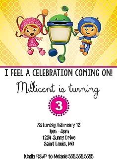 The Melange Market Customized Team Umizoomi Birthday Invitation