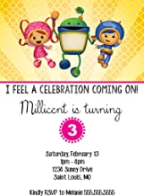 The Melange Market Customized Team Umizoomi Birthday Invitation