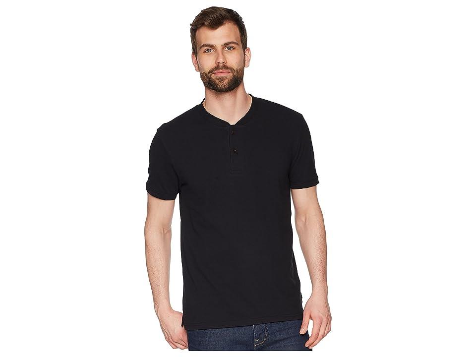 Lucky Brand Coolmax Bomber Polo Shirt (Jet Black) Men