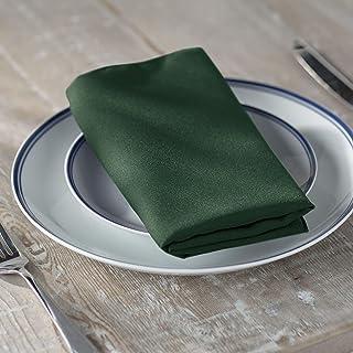 LA Linen Pack-10 Polyester Poplin Napkin 18-Inch, Hunter Green