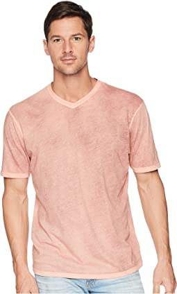 Topanga Combed Cotton Hand Treated Wash Short Sleeve V-Neck Tee