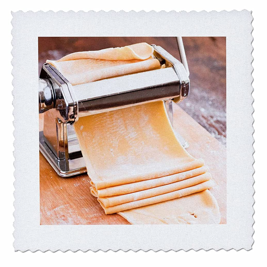 3dRose Pasta Machine with Dough, South Africa. - Quilt Square, 10 by 10-Inch (qs_208065_1)