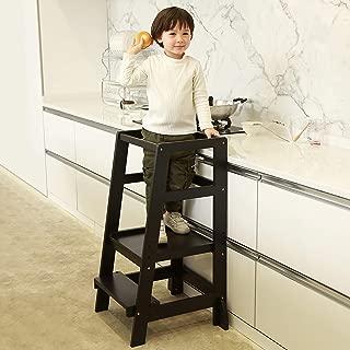 SDADI Kids Step Stools Kitchen Standing Tower Mothers' Helper, Black LT06B