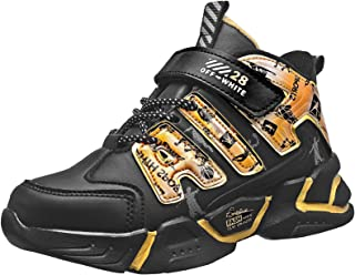 KRONJ Chaussures de basket-ball pour enfant garçon fille Chaussures de basket-ball Sneakers Pointure 28-39