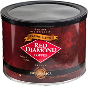 Red Diamond Classic Blend Ground Coffee, 22 Ounce Can