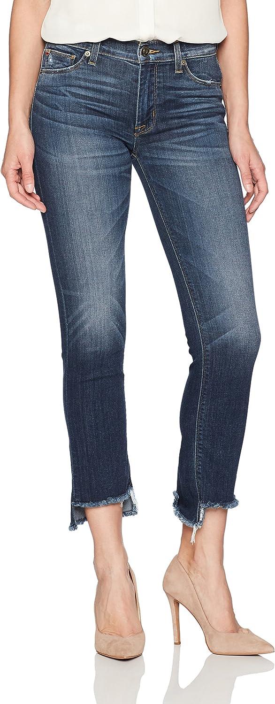 Hudson Jeans Womens Tilda Midrise Crop Cigarette W Step Hem Jean Jeans