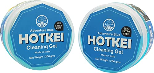 HOTKEI Pack of 2 Aqua Scented Multipurpose Car Interior Ac Vent Keyboard Laptop Dust Cleaning Cleaner Kit Slime Gel Jelly for Car Dashboard Keyboard Computer Electronics Gadgets 100 gm