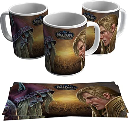 Caneca World Warcraft Battle for Azeroth Jogo Gamer Geek