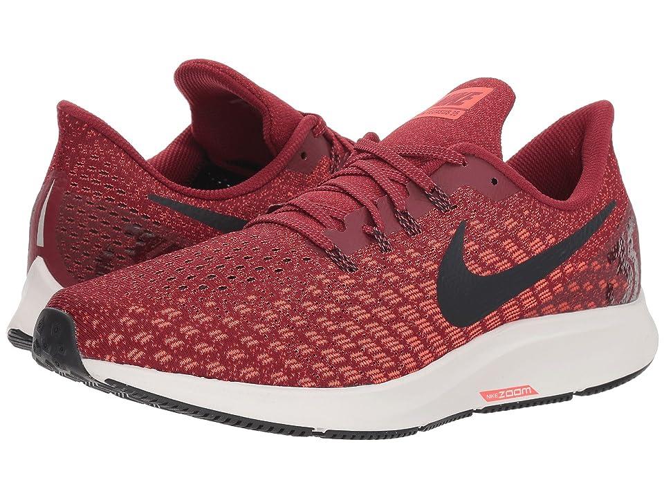 Nike Air Zoom Pegasus 35 (Team Red/Oil Grey/Bright Crimson) Men
