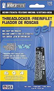 Best Vibra-TITE 125 Removable Medium Strength Gel Anaerobic Threadlocker, 6 ml Tube, Blue Review