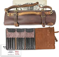 Walker & Williams DSB-1 Thick Full Grain Cowhide Leather & Brass Drum Stick Bag