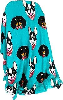 Warm & Snuggly Boston Terrier Dachshund Weiner Dog Throw Blanket 50x60