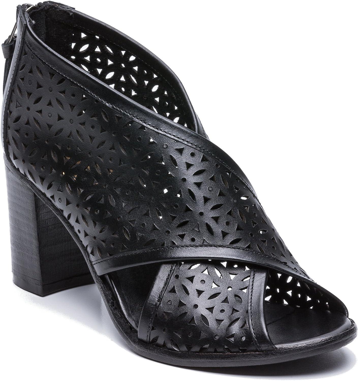 Zerimar Damen Damen Damen Hoch Sommer Stiefel aus Leder   Stiefelie Peep Toe   hohe Sommerschuhe mit decorativen löchern   Leder Sandalen Stiefel   Frauen Sandalen aus echtem Leder  ec3505