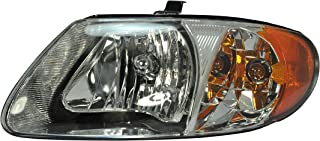 Driver Side Headlight Head Light Lamp for 2001-2007 Chrysler Town & Country, Chrysler Voyager, Dodge Caravan CH2502129 4857701AC - INCLUDES BULBS